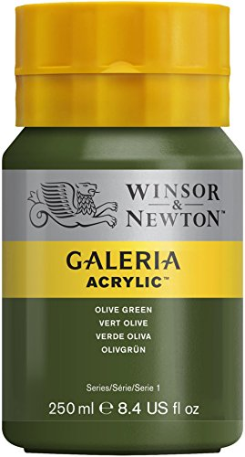 winsor-newton-series-1-250ml-bottle-galeria-acrylic-colour-with-nozzle-cap-olive-green