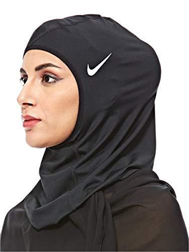 Nike Unisex- Erwachsene Pro Hijab, Black/White, M/L