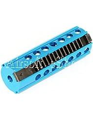 Airsoft matériel photo CNC en acier 14dents Piston pour V2Version 2vitesses Bleu