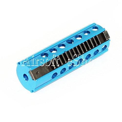 Airsoft Softair Ersatzteile CNC Stahl 14 Zähne Kolben für V2 Version 2 Getriebe Gearbox Blau (Stahl Airsoft Kolben)