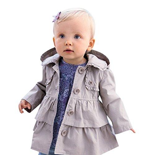 Araus cappotto giacca a vento da bimba giachetta classica elegante a manica lunga 0-5 anni