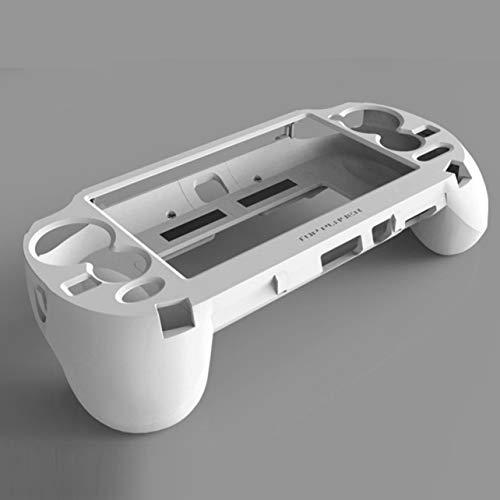 Gamepad Main Grip Manette Housse de Protection du contrôleur de Jeu Support de Fixation L2 R2 Trigger pour Sony PS Vita 1000 PSV1000 (Blanc)
