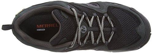 Merrell Azura Gore-Tex, Trekking et Chaussures de Randonnée Femme Noir (Black/Carbon)