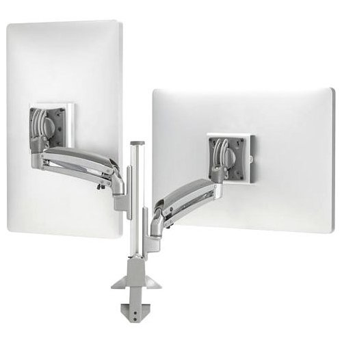 Milestone K1 Column Mount Dual Display 1l Arm Silver by Chief Chief Dual-display