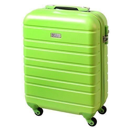 Karry Handgepäck Bordgepäck Hartschalen Koffer für Kurzreisen Urlaub Reisen Businesskoffer Trolley Case TSA Schloss 30 Liter Grün 815
