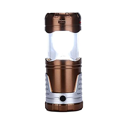 Solar Telescopic LED Camping Light - WinCret Outdoor Multi-functional Collapsible Tent Lamp Rechargeable Flashlight Portable Remote Hanging