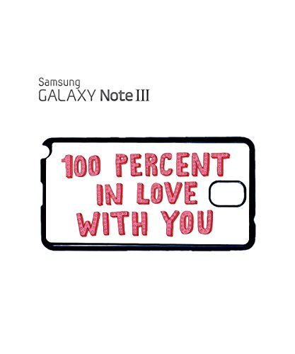 100 Percent % In Love With You Xmas Mobile Phone Case Samsung Note 3 White Blanc