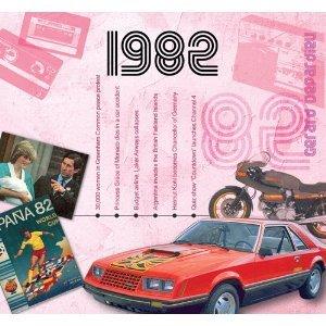 1982 Cadeaux anniversaire - 1982 Graphique Clics CD et 1982 Carte De Voeux