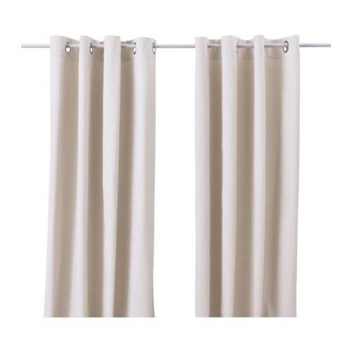 """IKEA Vorhang-Paar \""""MERETE\"""" blickdichte Gardinen aus 100{3e38f88be076cfa0feebded7c72dd8208c8eac8b7dc0b1f4059983562abcfd9a} Baumwolle - schwere Qualität - 145x300cm je Gardine - Farbe: BEIGE - mit Ösen in der Oberkante"""