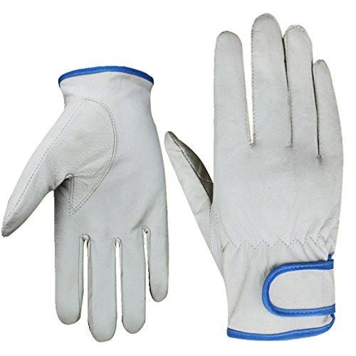 Gxdhome guanti di protezione del lavoro in pelle di pecora guanti per uomini e donne resistenti all'usura resistente all'usura argon arc welding shipyard mechanic service gloves