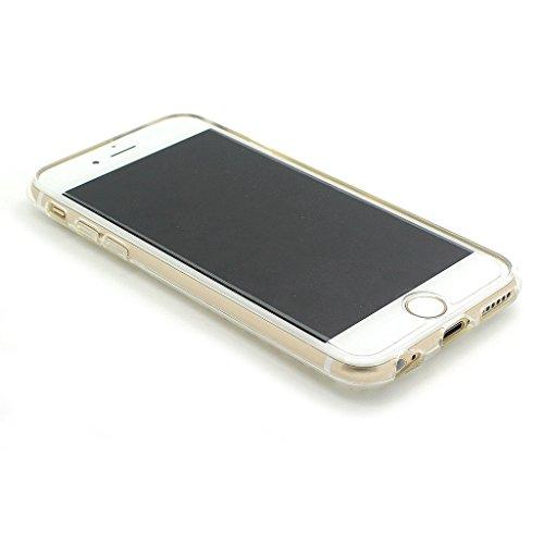 JIAXIUFEN Silicone Étui Housse Protecteur TPU Coque pour Apple iPhone 6 Plus / iPhone 6S Plus (5.5 pouce) - Henna Series Apple Butterfly Girl Color02