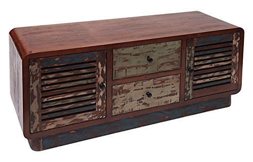 Burkina Home Decor Sumatra Meuble TV, bois, marron, 120 x 40 x 52 cm