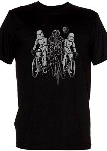 Original Retro Mens Shirt - Imperial Tour De France Dark Star Storm Troopers and Darth Mens