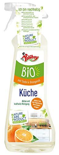 Poliboy Bio Küchenreiniger mit Sprühmatic - Aktive und kraftvolle Reinigung mit Seifenschaum für die ganze Küche - Vegan - 500 ml - Made in Germany