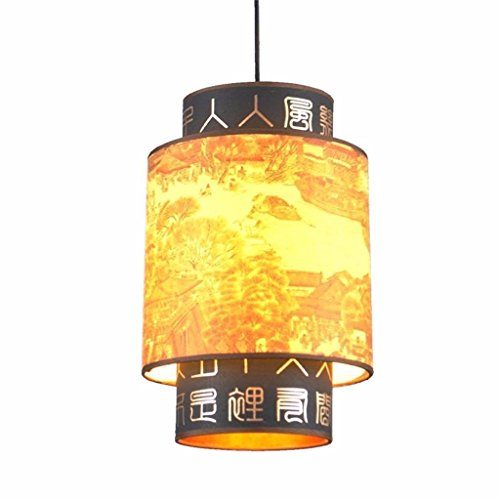 Montalatte lampadari antichi di porcellana cinese HLamps retro lanterne corridoio illuminazione del corridoio, 30 * 30 * 40 cm