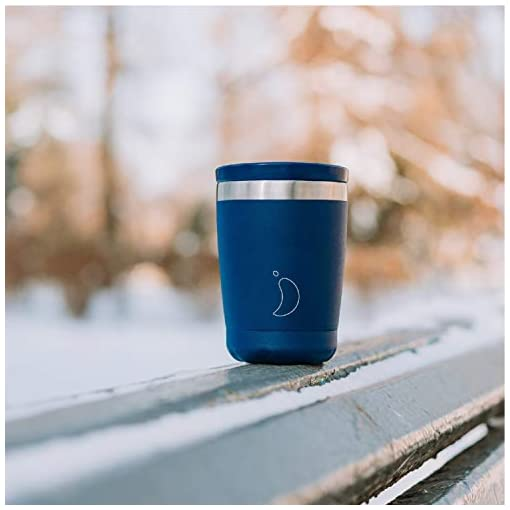 Chilly's Insulated Coffee Cup | Double Walled Coffee Cups with Lids | Stainless Steel | Product Logo May Vary