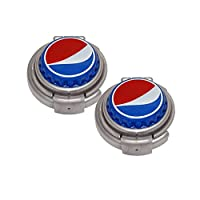 Jokari 2 Count Pepsi Modern Logo Soda Can Pump and Pour, Red/White/Blue