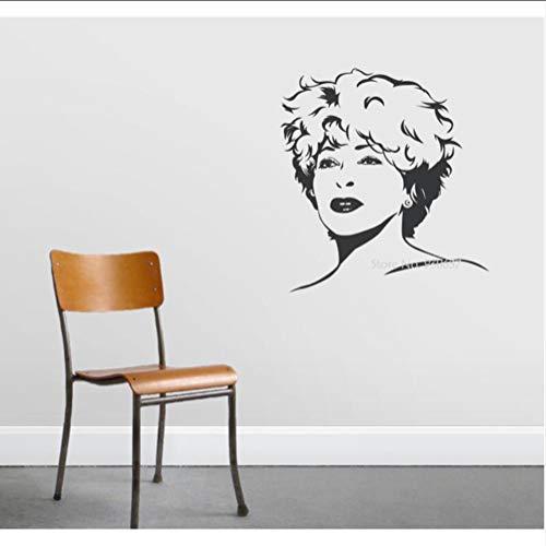 Preisvergleich Produktbild Wsxwga Berühmte Sänger Vinyl Wandaufkleber Abnehmbare Dekoration Tina Turner Decals Rock Queen Wandtattoo 3D Poster Kunst Tapete 57 * 61 Cm