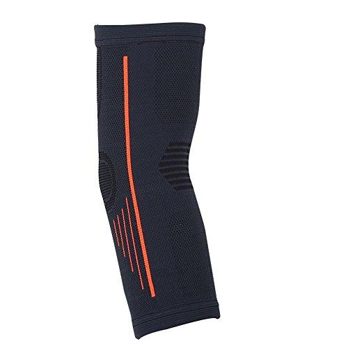 Dilwe 1Ellenbogen-Bandage, schwarz Unisex Sport Nylon Ellenbogenbandage Displayschutzfolie Guard Schutz Arm Sleeve (Baseball-handgelenk-protektor)