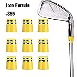 Sword &Shield sports 20Pcs Size .355 Custom Yellow Golf Iron Ferrule for Taper Tip Wedge