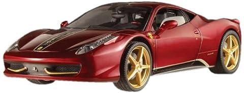 Hotwheels - Elite (Mattel) - Bck12 - Véhicule Miniature - Modèle À L'Échelle - Ferrari 458 Italia - China Edition - Echelle 1/18