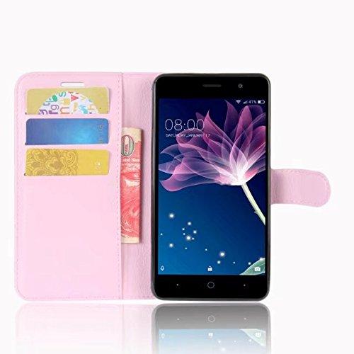 OFU® Pour Iphone X Prime Coque,Étui en Cuir PU+TPU pour Iphone X Prime Housse Coque Pochette Portefeuille de Protection Case Cas Cuir Etui,Il y a logistique des numéros de suivi(Iphone X Prime,noir) rose