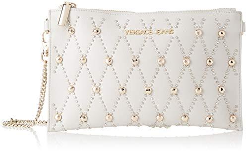 Versace Jeans Couture Damen Wallet portemonnaie, Grau (Grigio Metallizzato), 1x16x25,5 centimeters