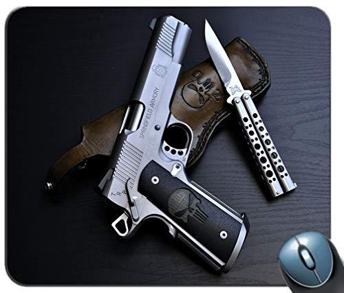 Amerikanische Pistole Hintergrund Mauspad, Gaming-Mauspad Rutschfeste Gummibasis, personalisierte Mauspad für Computer & Laptop