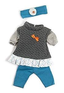 Miniland Conjunto Entretiempo Gris Vestido para muñecos de 40cm, Color, 38-40 cm 31560