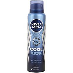 Nivea Cool Kick 48 Hour Deodorant For Men, 150ml