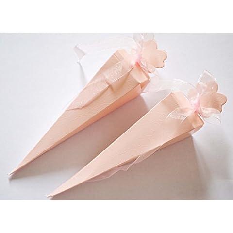 100Arroz confeti conos; Boda Favor; Cinta en varios colores.