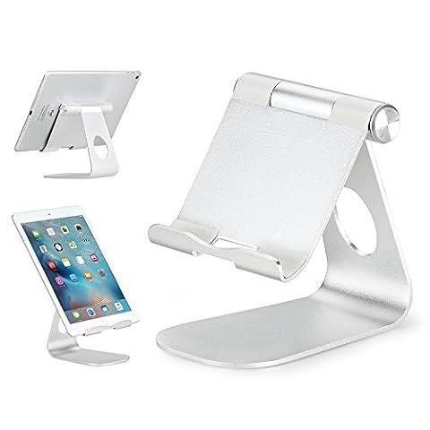 Support Universel de Tablette au Bureau, Rotatif à 270 Degrés en Alliage d'Aluminium pour iPad Pro 9.7 / iPad Air 2 / iPad Mini 4, Nexus 9, Galaxy Tablet et d'Autre Tablettes de 7 à 10 Pouce,