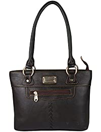 Waao PU Leather Dark Brown Hand Bag For Women