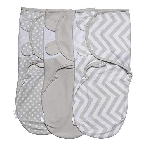 Juicy Bumbles Baby Pucksack Wickel-Decke 220GSM/1.0 TOG - 3er Pack Universal Verstellbare Schlafsack Decke für Säuglinge Babys Neugeborene