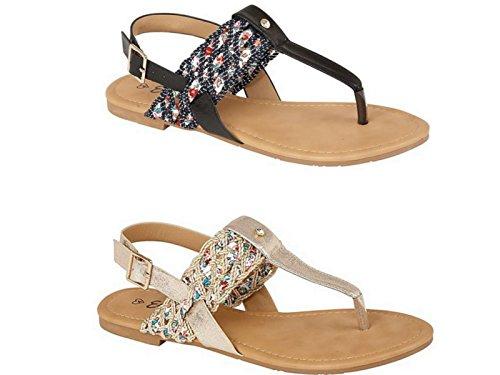 Foster Footwear ,  Mädchen Damen Knöchel-Riemchen Schwarz Multi