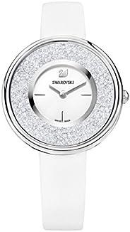 Swarovski Women's White Dial Leather Band Watch - 527