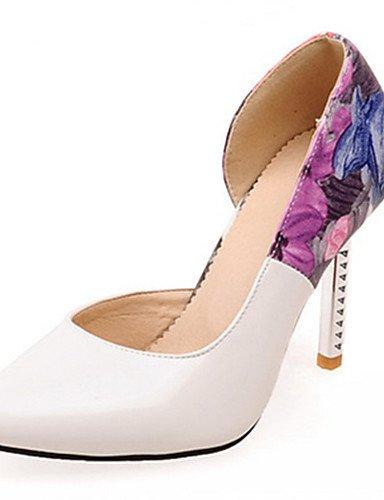 WSS 2016 Chaussures Femme-Habillé / Décontracté / Soirée & Evénement-Noir / Rose / Blanc-Talon Aiguille-Talons / Bout Pointu-Talons-Similicuir black-us4-4.5 / eu34 / uk2-2.5 / cn33