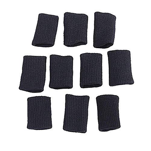 joizo 10 Stück Finger Sleeves Daumen Klammern Unterstützung elastische Kompression Schutz Zahnspange zur Linderung von Schmerzen Schwielen Arthritis Knöchel (Arthritis Daumen-unterstützung)