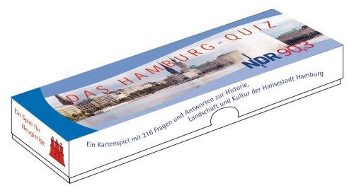 Preisvergleich Produktbild Das Hamburg- Quiz von NDR 90,3 Kartenspiel