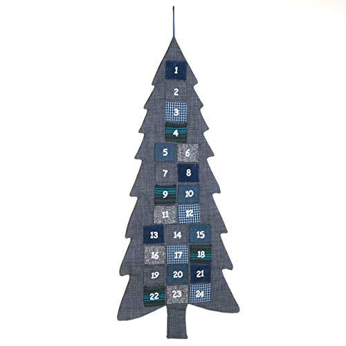 Pajoma 14774 árbol de Navidad Calendario de Adviento para Rellenar, Tela, Altura 133 cm