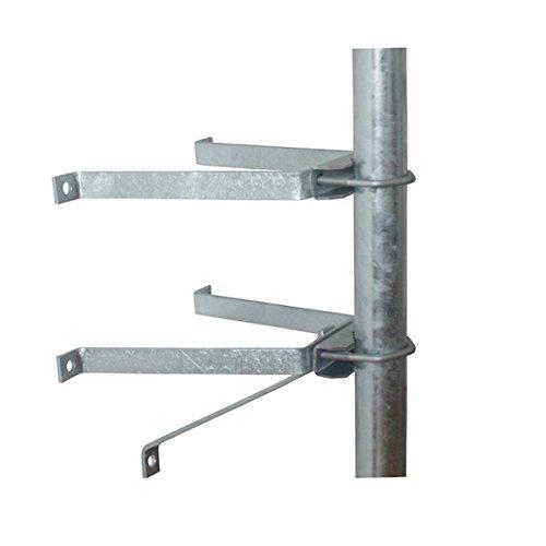 PremiumX Sat-Mauerhalter Wandabstandshalter Wandabstand 50cm für Mast bis Ø 60mm aus verzinktem...