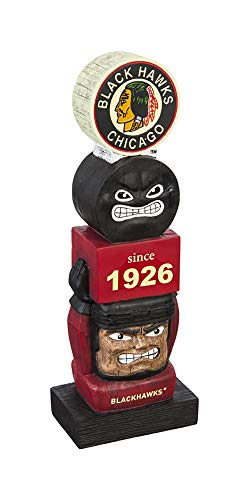 Team Sports America Chicago Blackhawks Vintage NHL Tiki Totem Statue -