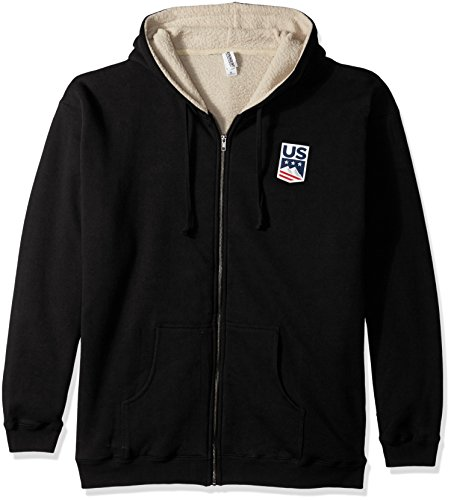 Uns ski-snowboard Lizenzprodukt Apparel US Ski Team Logo Sherpa Gefüttert Hoodie schwarz