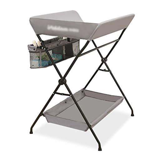 Tables à langer Pliante pour Petits espaces, Commode Portable pour Station de Massage pour bébé avec Organisateur de Rangement pour la Maison et Le Voyage