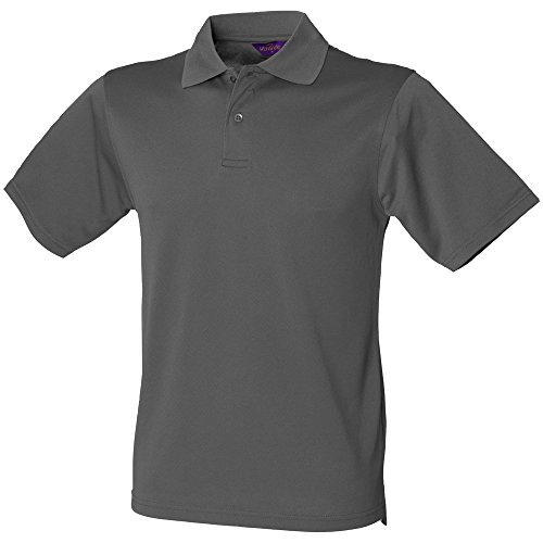 Henbury Coolplus ® Polo-Shirt Charcoal Grey