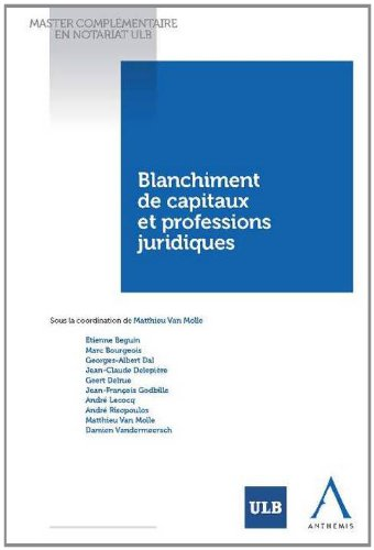 Blanchiment de capitaux et professions j