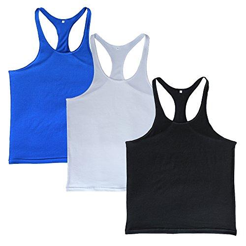 7f158067a830b Musclealive Hombres Culturismo Camiseta sin mangas Larguero Chaleco Algodón