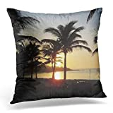 Throw Pillow Cover Mexican Riviera Maya Cancun Mexico Caribbean Vacation Decorative Pillow Case Home Decor Square 18x18 Inches Pillowcase