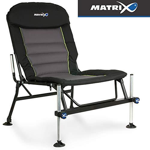 Fox Matrix Deluxe Accessory Chair - Angelstuhl zum Feederangeln & Karpfenangeln, Stuhl zum Angeln, Karpfenstuhl, Klappstuhl