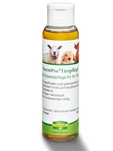 NeemPro Tierpflege 100 ml für gepflegtes Fell Haustier Katze Shampoo mit Margosaextrakt Neem ohne Auswaschen